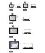 LED sensor Slim Floodlamp 50W 6400K 2 jaar Garantie