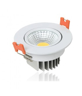 LED COB INBOUWSPOT Adjustable 5w 6000k Wit
