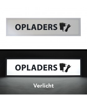 LED Reclamebord (Opladers)