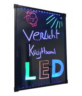 LED Krijtbord 80x60cm - RGB MultiColor - OPRUIMING!!