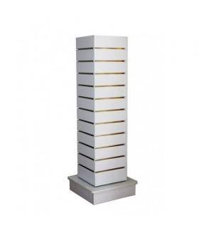 Lamellentoren 4 Zijdig - Draaibare Middennit - Torendisplay  135x32 cm (hxb) - OPRUIMING!!!