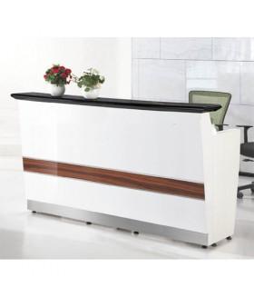 Toonbank Eco - Balie Vitrine B120XH100XD55 Alu. Grijs