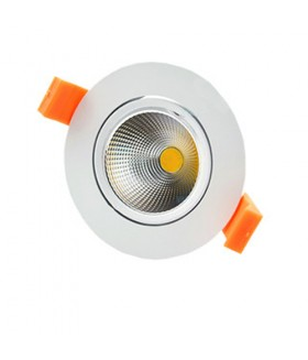 LED COB INBOUWSPOT adjustable 3W 3000K WIT